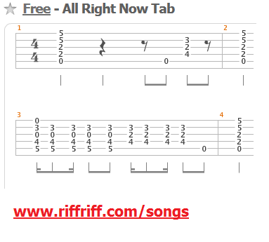 All-Right-Now-Guitar-Tab how to play