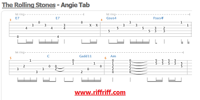 Angie - Guitar Tabs