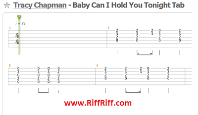 Baby Can I Hold You - Guitar Tablature