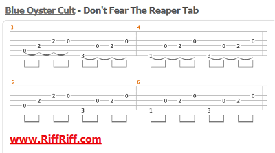 Dont Fear The Reaper Guitar Tab