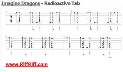 Imagine Dragons - Radioactive - Guitar Tab