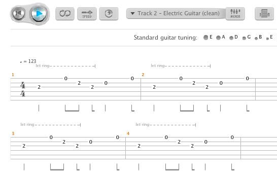 ticket to ride guitar riff