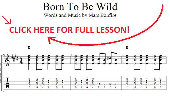 how to play born to be wild
