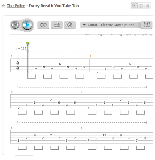 How To Play Every Breath You Take Lean How To Play Guitar Riffs