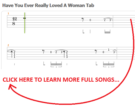 Have you really loved a woman tab
