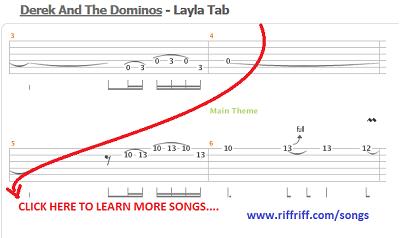 layla eric clapton guitar tablature