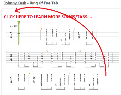 know how to play ring of fire by johnny cash lean how to play guitar riffs at how to play easy. Black Bedroom Furniture Sets. Home Design Ideas