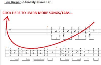 steal my kisses guitar tabs
